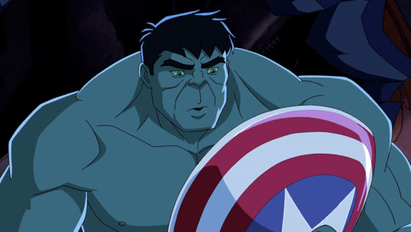 """MARVEL'S AVENGERS ASSEMBLE - """"The Avengers Protocol: Pt. 1"""" - When Captain America is apparently destroyed by Red Skull, Iron Man re-unites the team to try and avenge his friend and stop Red Skull's army. This episode of """"Marvel's Avengers Assemble"""" premieres SUNDAY, MAY 26 (11:00 AM - 11:30 AM ET/PT) on Disney XD. (DISNEY XD) HULK"""