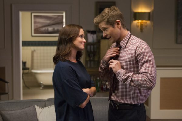 Alexis Bledel as Rory and Matt Czuchry as Logan in 'Gilmore Girls: A Year in the Life'
