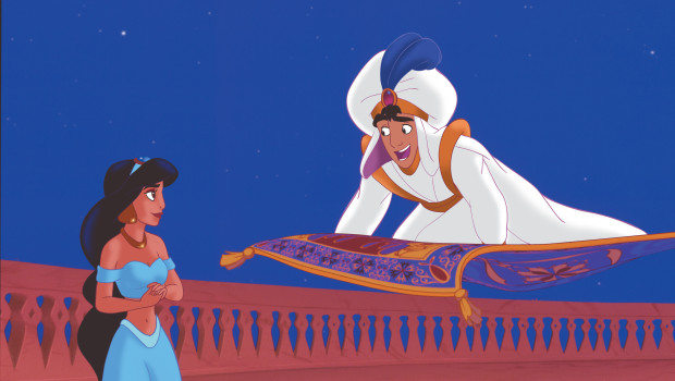 Aladdin on Carpet with Jasmine