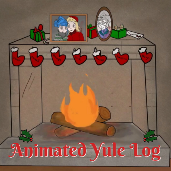 Animated Yule Log