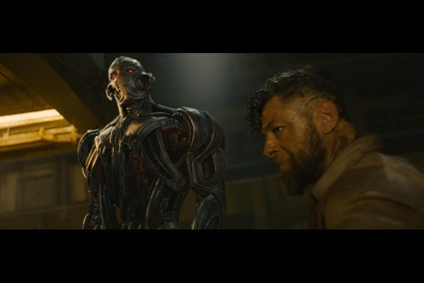 James Spader as Ultron and Andy Serkis as Ulysses Klaue in Averngers: Age of Ultron / Marvel / Disney