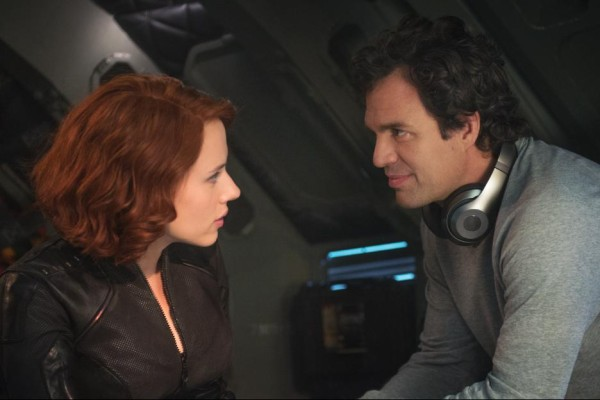 Scarlett Johansson as Black Widow and Mark Ruffalo as Bruce Banner in Avengers: Age of Ultron / Marvel / Disney