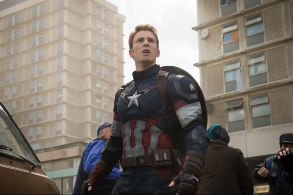 Chris Evans as Captain America in Avengers: Age of Ultron / Marvel / Disney