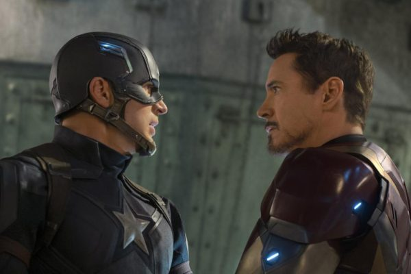 Captain America and Iron Man in 'Captain America: Civil War'