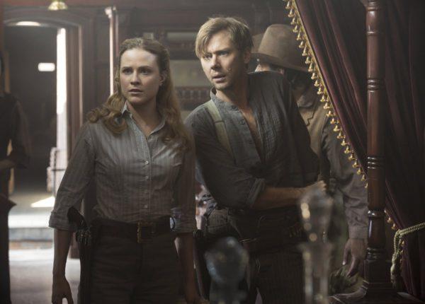 Evan Rachel Wood and Jimmi Simpson on Westworld