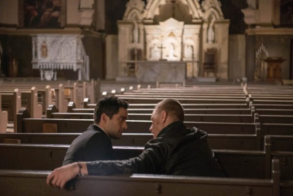 Alfonso Herrera and Ben Daniels in 'The Exorcist'