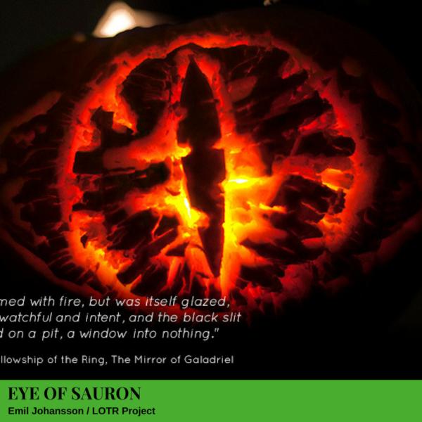 Eye of Sauron Jack-O'-Lantern