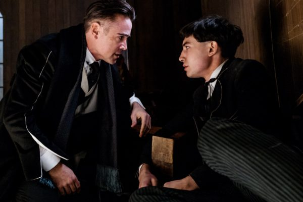 "Copyright: © 2016 WARNER BROS ENTERTAINMENT INC. ALL RIGHTS RESERVED Photo Credit: Jaap Buitendijk Caption: (L-r) COLIN FARRELL as Graves and EZRA MILLER as Credence in Warner Bros. Pictures' fantasy adventure ""FANTASTIC BEASTS AND WHERE TO FIND THEM,"" a Warner Bros. Pictures release."