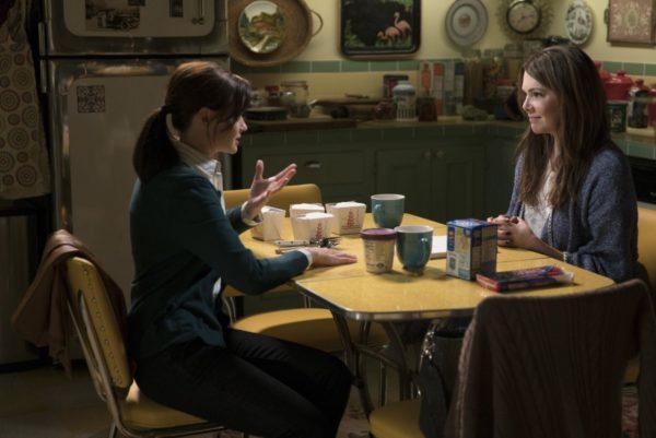 Alexis Bledel as Rory and Lauren Graham as Lorelai.