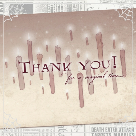 Harry Potter Thank You Cards