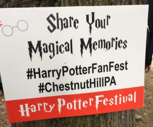 Harry Potter Festival Sign