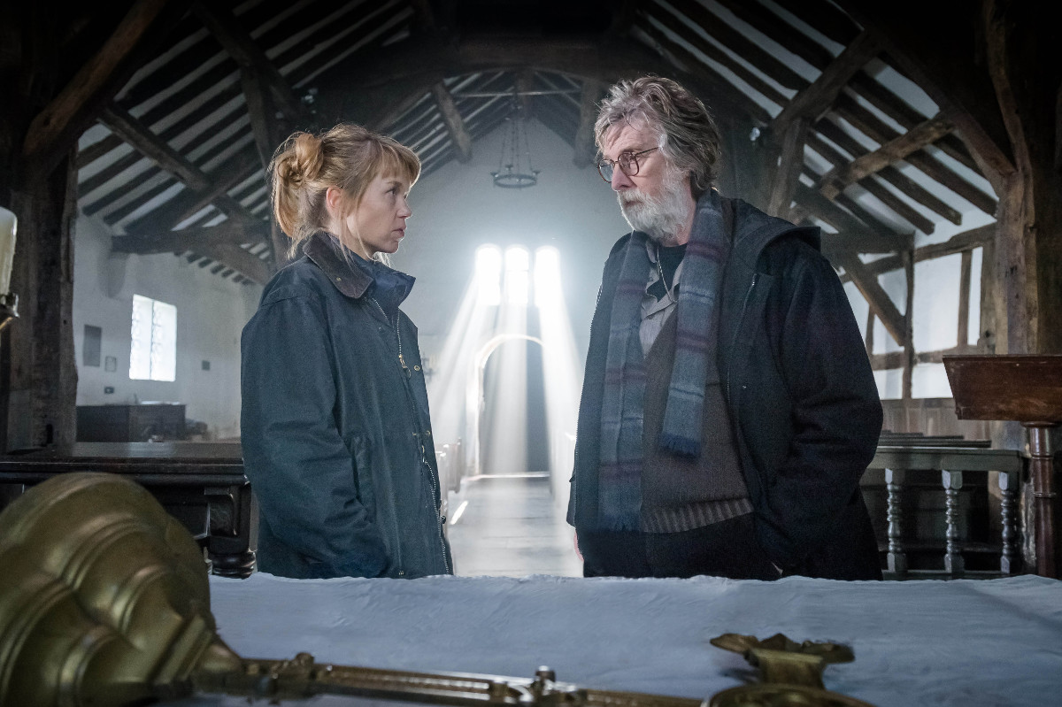 Midwinter of the Spirit - The chaos in the desecrated church felt quite low-key ... and in this image a gory ingredient is even missing. - Image Courtesy of ITV