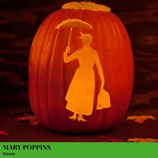 Mary Poppins Jack-O'-Lantern