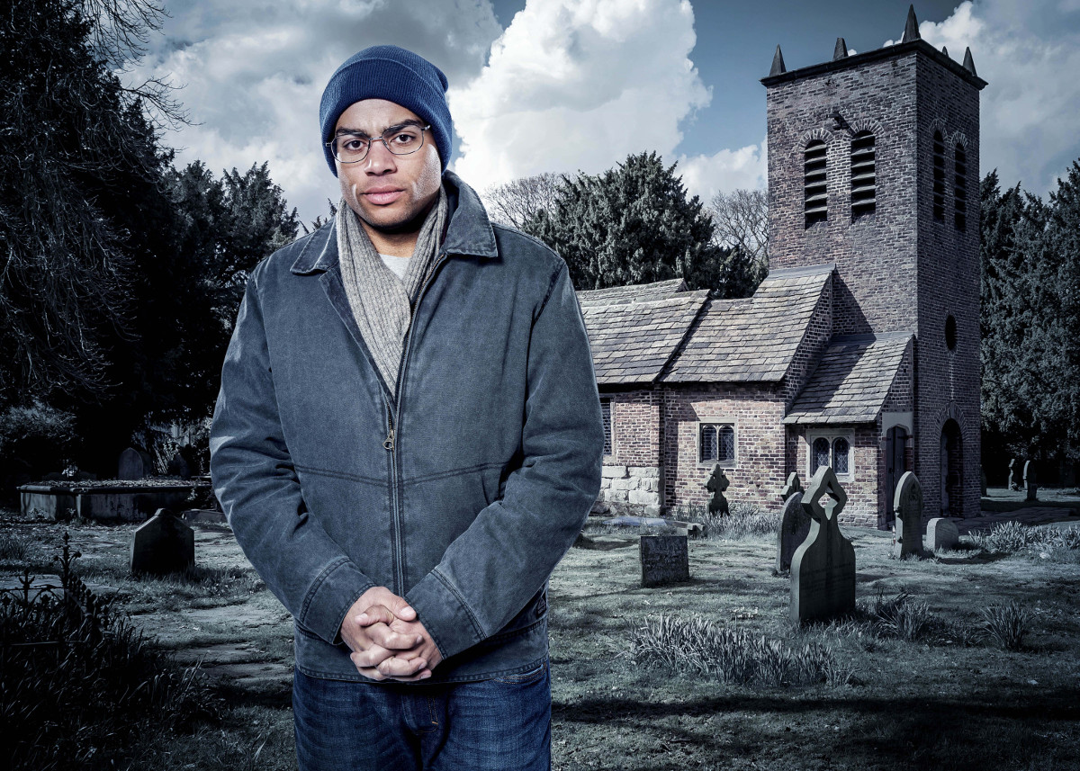 Midwinter of the Spirit - Lol Robinson looks as if he lost his whole personality ... and he did! - Image Courtesy of ITV