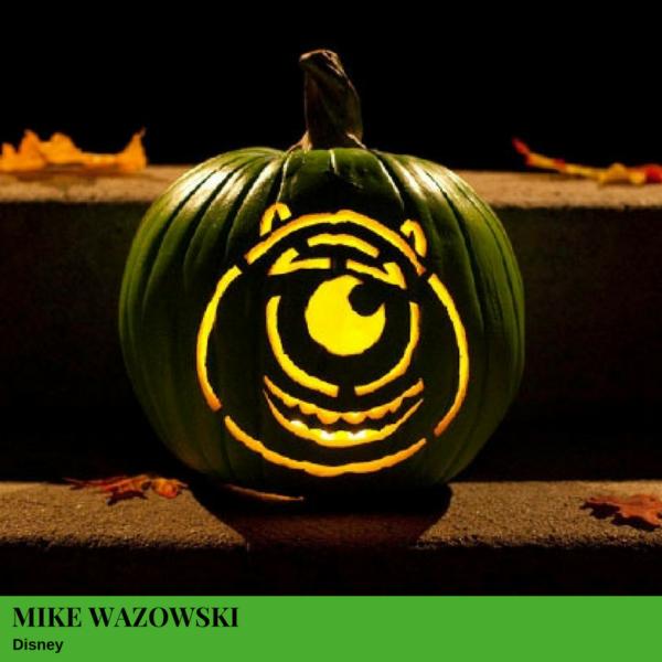 Mike Wazowski Jack-O'-Lantern