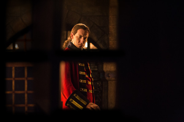 Tobias Menzies as Black Jack Randall in Outlander Season 1.