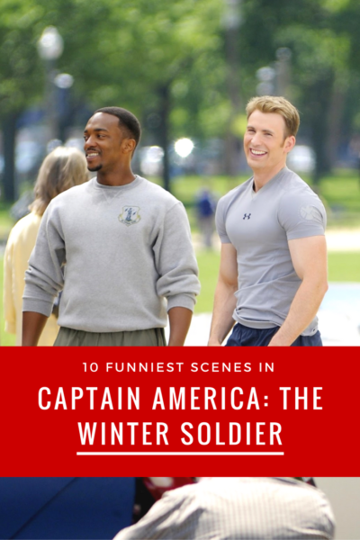 Are these the 10 Funniest Scenes in #CaptainAmerica #TheWinterSoldier? Read our #Marvel movie review.