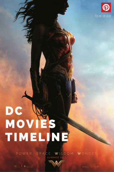 A breakdown of the DC movies timeline and a calendar of DC movies release dates, beginning with Man of Steel and including future #JusticeLeague, #Batman and #WonderWoman movies.