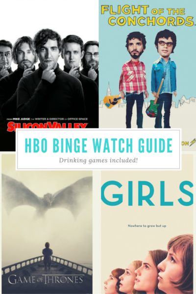 Long list of what to binge-watch on HBO Now. Plus drinking games to match!