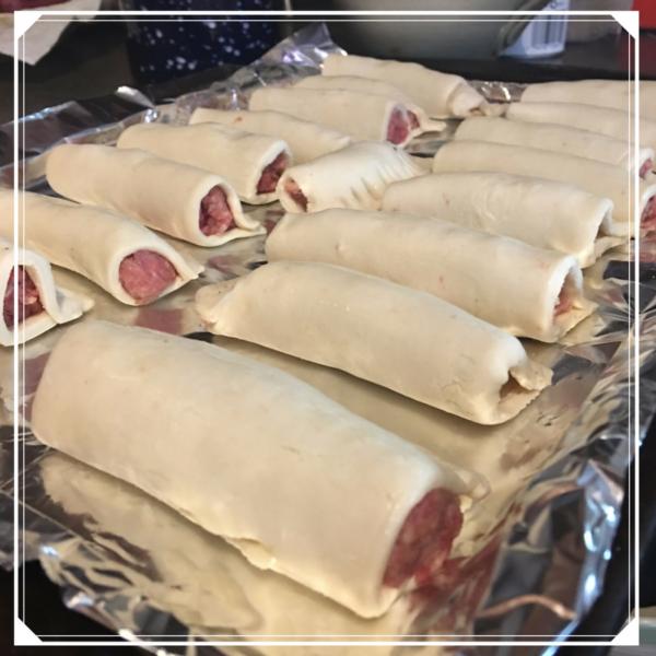 Raw Sausage Rolls