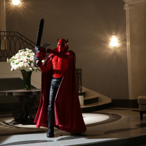 "SCREAM QUEENS: The Red Devil in the ""Chainsaw"" episode of SCREAM QUEENS airing Tuesday, Sept. 29 (9:00-10:00 PM ET/PT) on FOX. ©2015 Fox Broadcasting Co. Cr: Patti Perret/FOX."