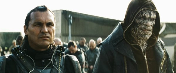 """Caption: (L-r) ADAM BEACH as Slipknot and ADEWALE AKINNUOYE-AGBAJE as Killer Croc in Warner Bros. Pictures' action adventure """"SUICIDE SQUAD,"""" a Warner Bros. Pictures release. Copyright: © 2016 WARNER BROS. ENTERTAINMENT INC. AND RATPAC-DUNE ENTERTAINMENT LLC Photo Credit: Courtesy of Warner Bros. Pictures/ TM & © DC Comics"""