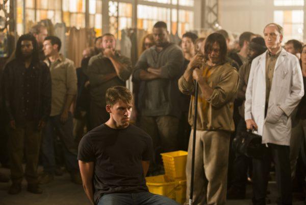 Norman Reedus as Daryl Dixon, Griffin Freeman as Mark, Tim Parati as Dr Emmit Carson- The Walking Dead _ Season 7, Episode 7 - Photo Credit: Gene Page/AMC