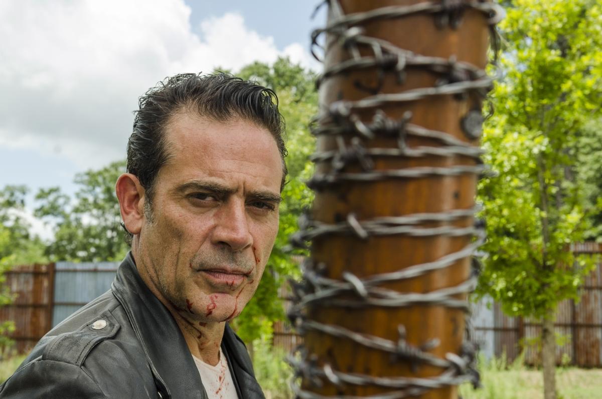 Jeffrey Dean Morgan as Negan- The Walking Dead _ Season 7, Episode 8 - Photo Credit: Gene Page/AMC