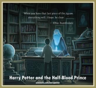 Harry Potter and the Half-Blood Prince back cover / CR: Kazu Kibuishi / Scholastic