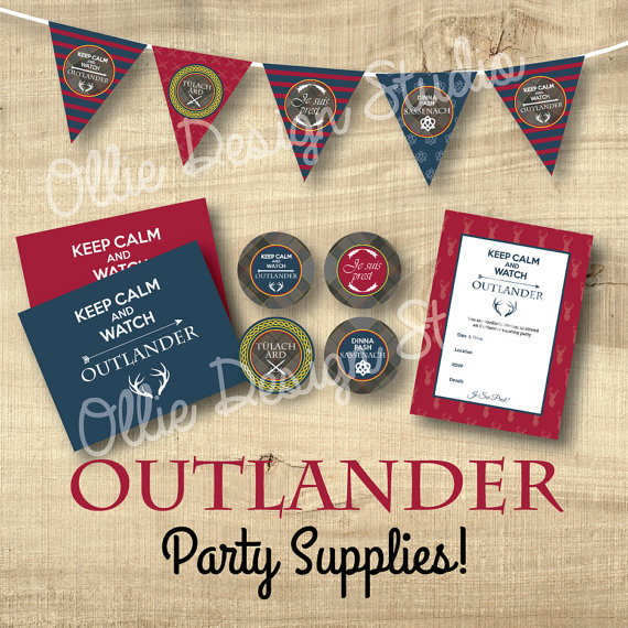 OllieDesignStudio Outlander Party Supplies