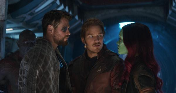 Infinity War Thor Peter Quill Gamora