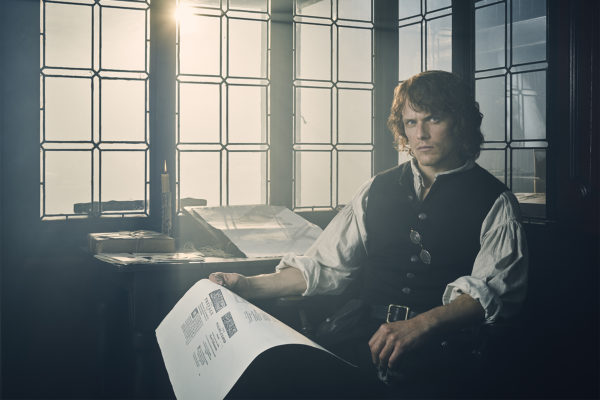 Jamie Fraser as a printer on Outlander