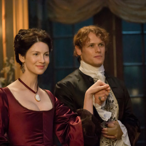 Caitriona Balfe as Claire Randall and Sam Heughan as Jamie in 'Outlander' Season 2