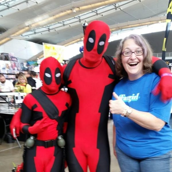 Deadpools and writer Amy Peters