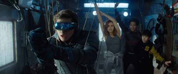 "(L-R) TYE SHERIDAN as Wade Watts, OLIVIA COOKE as Samantha Cook, WIN MORISAKI as Daito and PHILIP ZHAO as Sho in Warner Bros. Pictures,' Amblin Entertainment's and Village Roadshow Pictures' science fiction action adventure ""READY PLAYER ONE,"" a Warner Bros. Pictures release."